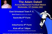 The Adam Dabell Annual Memorial Football Match 2021
